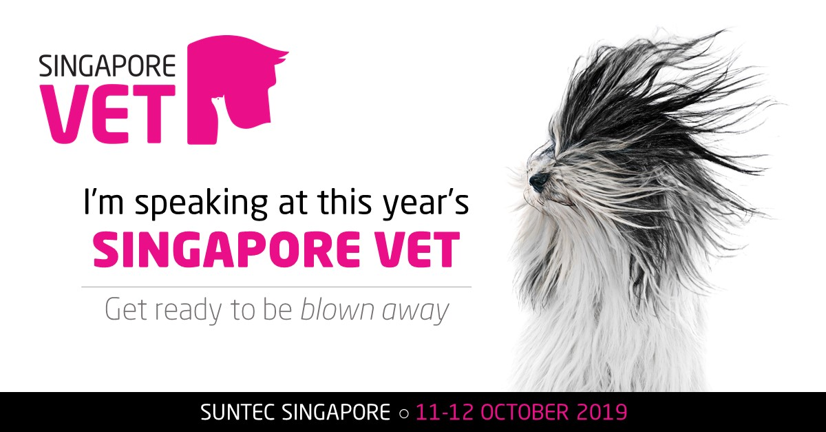 We're exhibiting and speaking at the Singapore Vet Show!